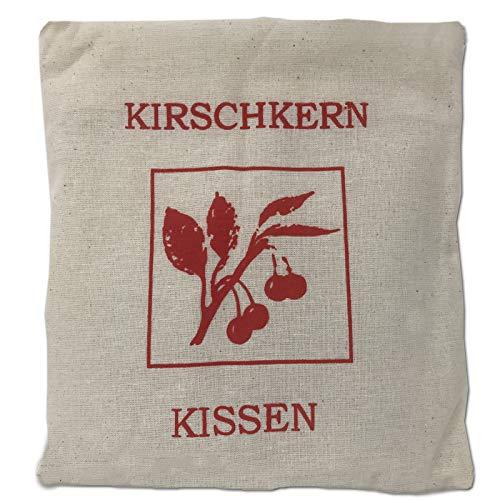 JEMIDI Cuscino termico con noccioli di ciliegia, ca. 21 cm x 21 cm, prodotto naturale, per cereali, lavanda, cuscino termico con semi di ciliegia