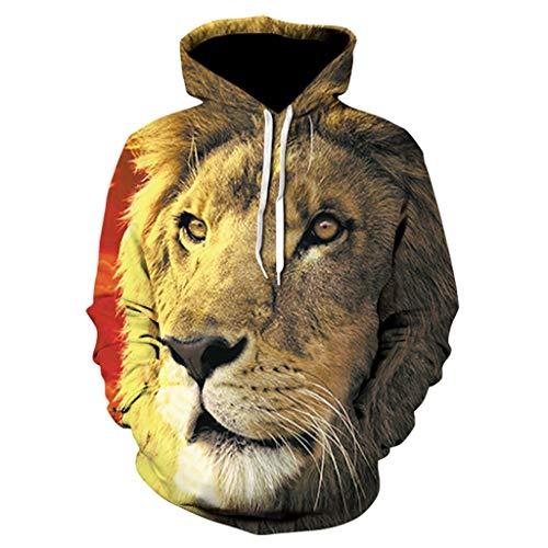 Cardith Herren 3D Druck Hoodies Herbst Winter Langarm Kordelzug Pullover Sweatshirt