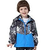 IjnUhb Boys Girls Waterproof Rain Jackets Hooded Raincoats Fleece Lined Windbreakers for Kids Coat (Grey,8/9) waterproof cycling jacket Feb, 2021