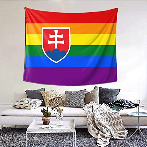 Slovakia flag Tapestry Wall Hanging Home Decoration Dormitory Bedding 3D Printed Tapestry 60×51inch