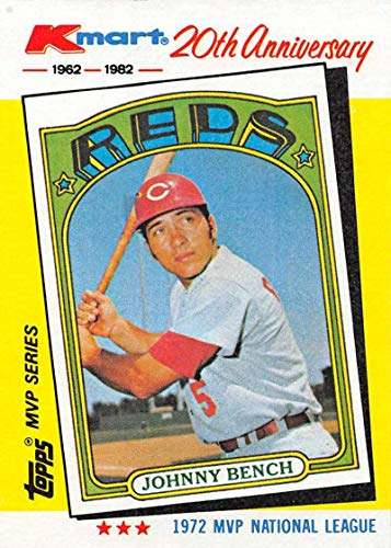 1982 Topps K-Mart Baseball #22 Johnny Bench Cincinnati Reds Official Limited Edition Trading Card From The Topps Company