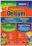 Delsym Children's Cough + Chest Congestion Day & Night Cold Liquid, Cherry & Berry, 8 oz