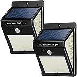 Luce Solare LED Esterno, 【2 Pezzi 144 LED】Luci Solari Lampade Faretti con Sensore di Movimento 1200mAh 800 Lumen Lampada Solare da Esterno IP65 Impermeabile 3 Modalità per Giardino Parete