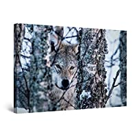 Startonight Canvas Wall Art Decor Abstract The Wolf Print for Bedroom 60 X 90 cm