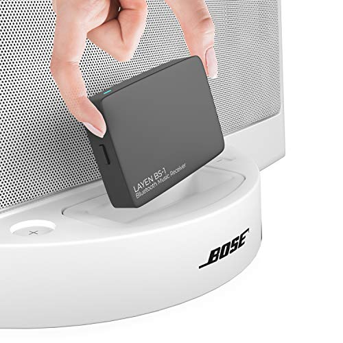 LAYEN BS-1 Bluetooth Wireless Adapter Stereo-Musikempfänger mit aptX & Multi Pair. 30-poliger Bluetooth Empfänger für Bose Sounddock und andere Musik-Dockingstationen