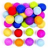 Baker Ross Bolas de fieltro de colores para proyectos de manualidades para niños / adultos y fabricación de joyas (paquete de 50)