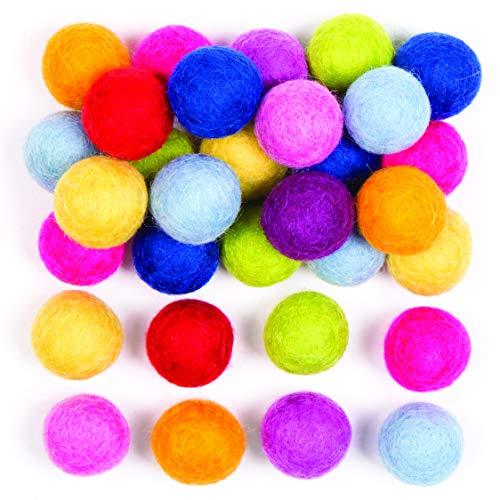 Baker Ross gekleurde viltballen voor kinder- en volwassenenhandwerkprojecten model- en sieradenproductie (50 stuks)