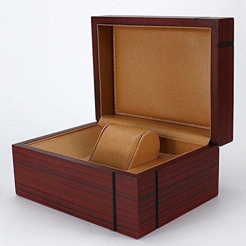 SHISHANG Premium glänzend hölzerne Armbanduhr / Armreif Kissen Box große Geburtstagsgeschenk Party Geschenk