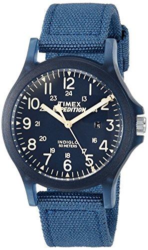 Timex Unisex-Armbanduhr 36mm Armband Nylon Blau Gehäuse Harz Quarz TW4B09600