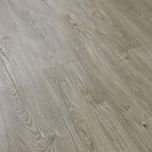 [neu.haus] Suelo de vinilo autoadhesivo set ahorro (1m²) roble claro (7 láminas de PVC = 0,975 m²) suelo de diseño estructurado