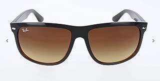 RB4147 Boyfriend Square Sunglasses, Black On Brown/Brown Gradient, 60 mm
