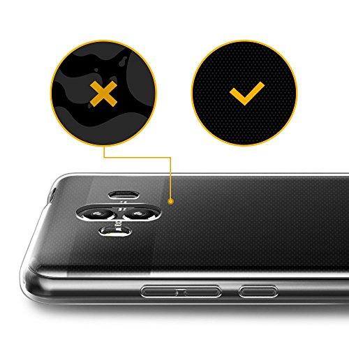 Gosento Huawei Mate 10 Pro Hülle TPU Case, Soft Flex Silikon Crystal Ultra Dünn Clear Schutzhülle Cover für Huawei Mate10 Pro (Transparent) EINWEG - 5