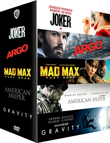 Coffret 5 films : joker ; argo ; mad max - fury road ; american sniper ; gravity