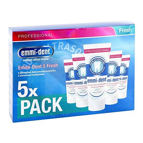 5 X Emmi-dent ultrasuoni Dentifricio Fresh 5 X 75ml tubo