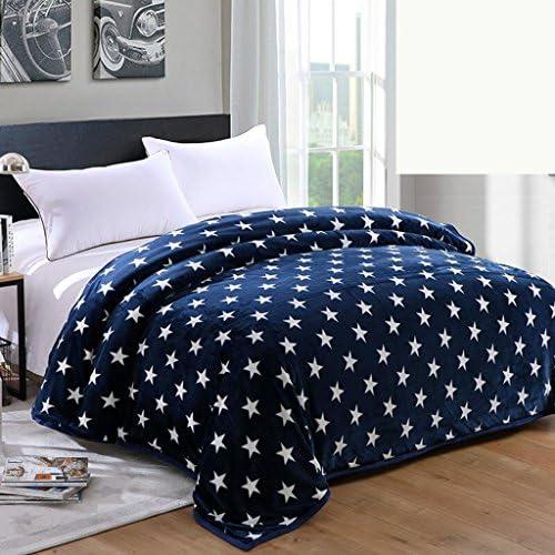 manta para sof/á Manta de franela c/ómoda y c/ómoda 101 cm x 152 cm cama de viaje cama infantil regalo para ni/ños y ni/ñas ligera dise/ño de corona azul en la oscuridad