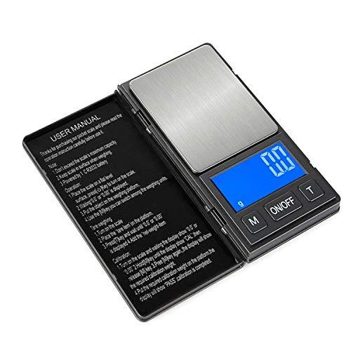 Mini Sieradenweegschaal Met Een Gewicht Van Gouden Medicinale Materialen Met Een Gewicht Van 0,01 G Kleine Elektronische Weegschalen Gram Draagbare Zakweegschaal Met Een Gewicht Van -100 G / 0,01