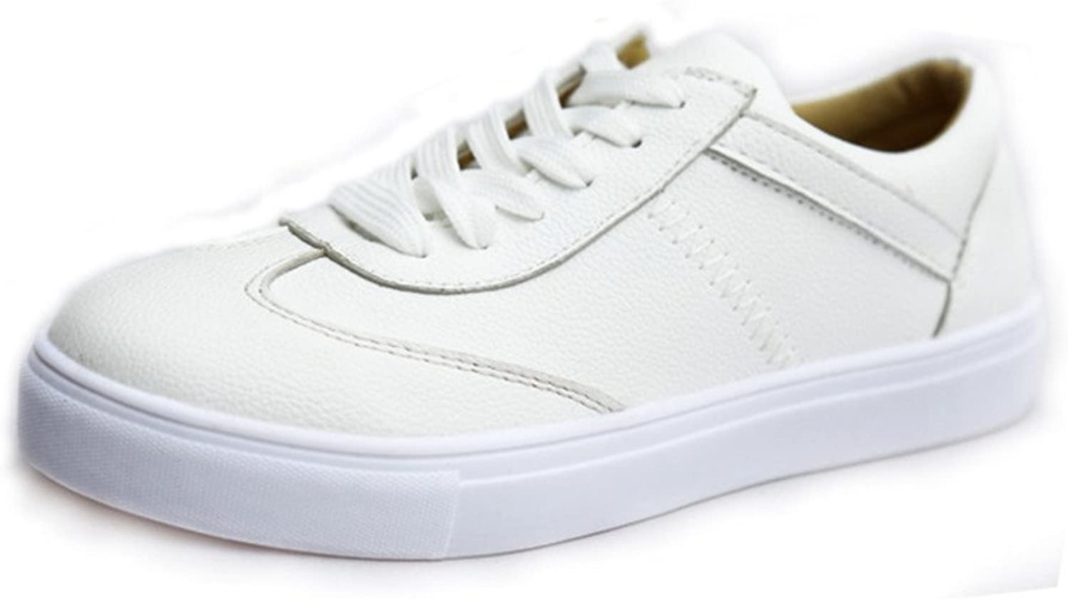 Huhuj The Korean Version of The Little White shoes in Spring and Summer Flat White shoes Casual Sports shoes