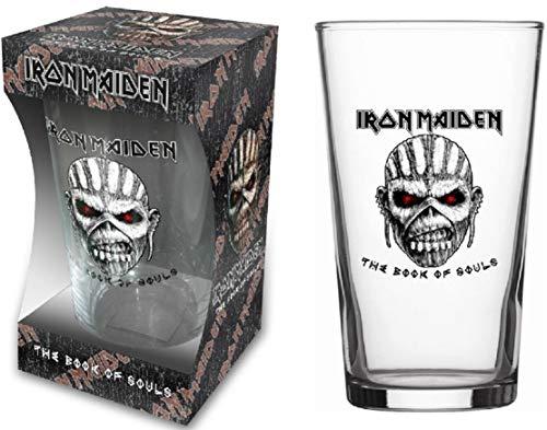 Iron Maiden Glas The Book Of Souls Bierglas Longdrink Glas XL Trinkglas Pint Glass