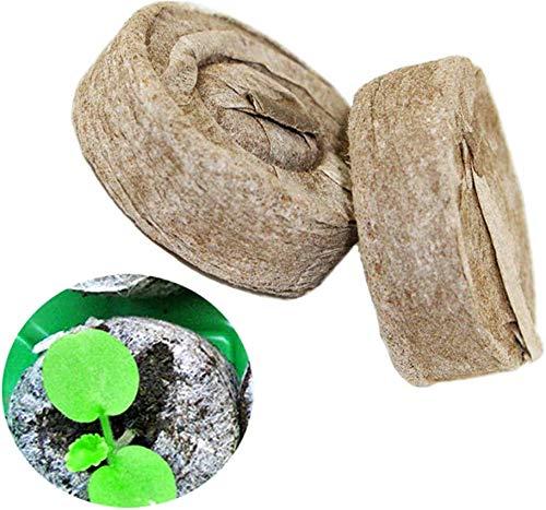 Votono 100 Pods Peat Pellets for Seeds Germination Seeds Starting Fiber Soil Direct Plant Seed Starters 30mm