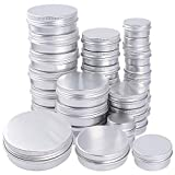 30pcs Latas de Aluminio Vacías (15ml, 30ml, 60ml) Contenedor de Cosméticos...