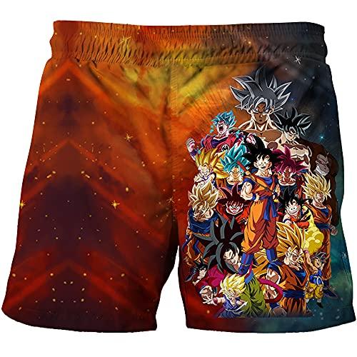 NFBZ Kinder Jungen Badehose-Dragon Ball 3D Printed Strandhose Sommer Sport Shorts Kurz für Wie Schwimmen Tauchen Surfen Strand oder Sonnenbaden (F05,120)