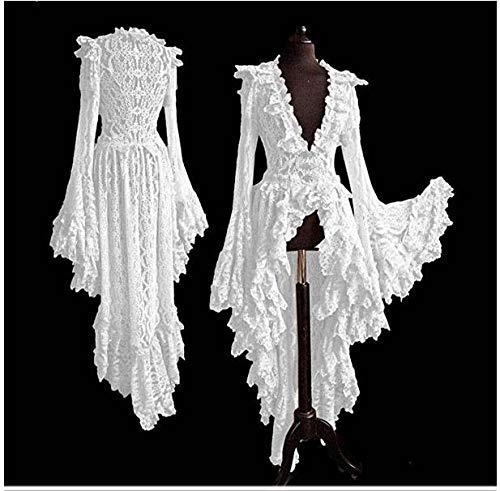 Vestido De Falda De Longitud De Halloween para Mujer Cuello Cuadrado con Volantes En Cascada Retro Falda Diaria Informal hasta El Tobillo,XXXL
