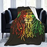 Yesbddfbc Reggae Bob-Marley Personalized Warm Lightweight Sofa Throw Flannel Blankets for Couch Sofa Bed Decorative.Comfortable and Warm Home Bed Sofa Flannel Suitable for All Season 50'X40'