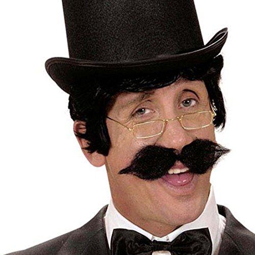 Amakando Fausse Moustache autocollante Barbe Artificielle postiche à Coller Grande Moustache Gentleman Accessoire déguisement Mardi Gras