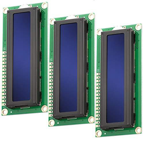 AZDelivery 3 x HD44780 1602 LCD Modul Display 2x16 Zeichen mit blauem Hintergrund und weißen Zeichen kompatibel mit Arduino inklusive E-Book!