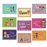 SANCENT 9 buenos hábitos educado clase reglas signos y carteles educativos para el aprendizaje del niño, Inglés material de enseñanza decoración de la decoración de la clase, clases organización