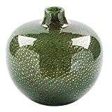 Fink Silva - Jarrón de Cristal (20 x 19 cm), Color Verde
