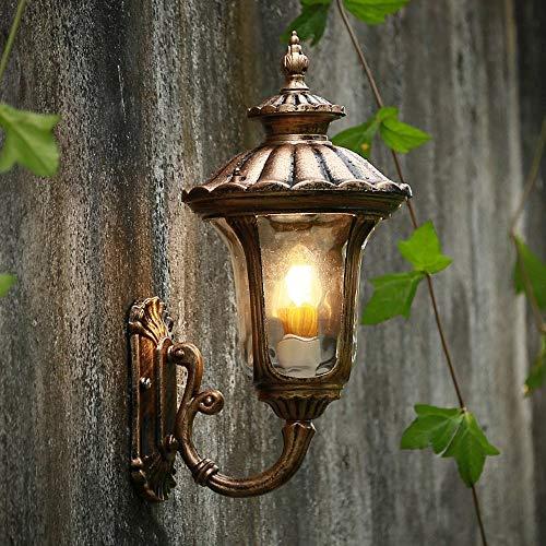 Lámpara de pared E27 con detector de presencia de seguridad para exteriores...