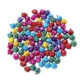 Campanellini sonagli WINOMO Campanelle decorative colorati con occhielli (100PCS)