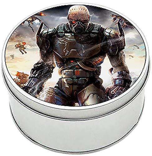 MasTazas Enemy Territory Quake Wars Caja Redonda Lata Round Metal Tin Box