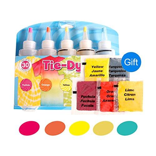 Kit de teinture pour vêtements en coton et lin avec 5 couleurs N°2