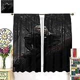 Petpany The Witcher 3 Wild Hunt Hunting Geralt Adventure Lujosa decoración de cortina, 107 x 160 cm, hermosa decoración de habitación y ajustes convenientes. Adecuado para dormitorio
