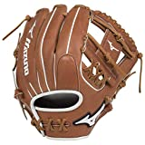 Mizuno GPSF1200 Pro Select Fastpitch Softball Gloves, 12', Right Hand Throw, Brown Tartan Web
