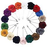 18 Stücke Männer Boutonniere Revers Pin Rose Blume Sortiert mit Geschenkbox Hochzeit Corsage Männer Anzug