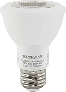 Soft White 1-Pack GE Lighting 89985 Energy-Smart LED Equivalent Wattage 50-watt 500-Lumen PAR20 Bulb with Medium Base