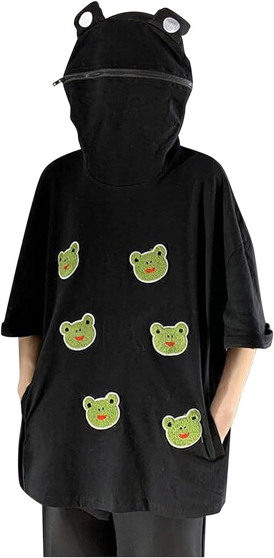 Women's Frog T-Shirt Tops Teen Sweatshirt Cute OFFicial shop Girls Sale Soli Casual
