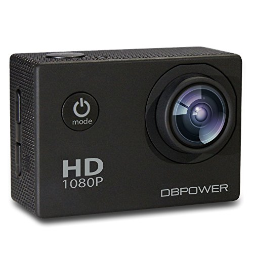 DBPOWER Waterproof Action Camera, 12MP 1080P HD with 2 Batteries and...