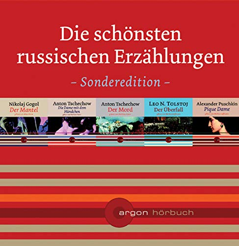 Danke-Edition 1 mit 5 Titeln im Schuber: Die schönsten russischen Erzählungen (Tschechow, Mord /Gogol, Mantel /Puschkin, Pique Dame /Tolstoj, Überfall /Tschechow, Dame)