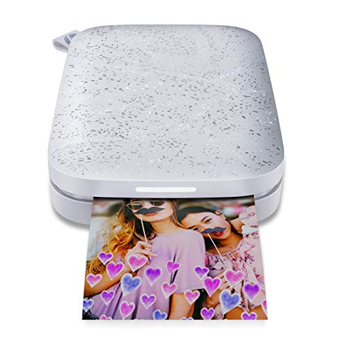 HP Sprocket Portable Photo Printer (2nd Edition) Instantly Print 2x3 Sticky-Backed Photos from Your Phone [Luna Pearl] [1AS85A] (Renewed)