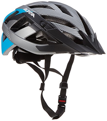 ALPINA PANOMA L.E. Fahrradhelm, Unisex– Erwachsene, darksilver black-blue, 56-59