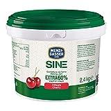 Menz&Gasser Confettura Extra di Ciliegie 60% Secchiello Sine, con Alta Percentuale di Frutta - Confettura da Forno e Pasticceria, Senza Glutine, 1 Secchio x 2,4 Kg