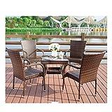 Muebles de vida al aire libre Rattan Jardín de muebles Muebles de terraza Muebles de jardín Liquidación Familia del césped muebles de exterior for jardín al aire libre junto a la piscina (4 piezas Con