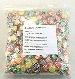 Starlight Fruit Discs 5 Lbs Bulk Hard Candy Approx. 450 Pieces