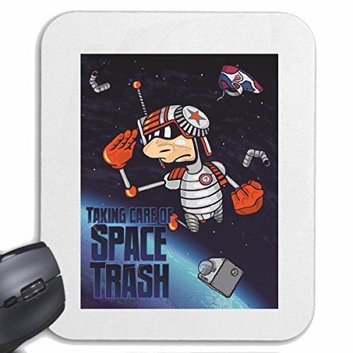 Reifen-Markt Mousepad (Mauspad) Taking Care of Space Trash Astronaut Raumfahrt WELTALL Raumfahrt WELTALL Astronaut Rakete Universum für ihren Laptop, Notebook oder Internet PC (mit Windows Linux usw.