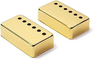 Healifty 2 piezas de guitarra Funda de guitarra Humbucker Guitar Neck Pickup cubre 6 agujeros para accesorios de guitarra eléctrica LP (oro)