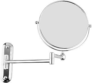 AINIYF Makeup Mirror Wall Mount Bathroom Mirror Double-Sided Vanity Magnifying Mirror Swivel Extendable(190x82x183mm)